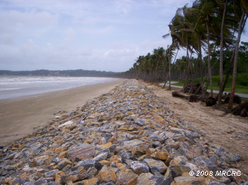 NEWLY BUILT SEA WALL – MANZANILLA
